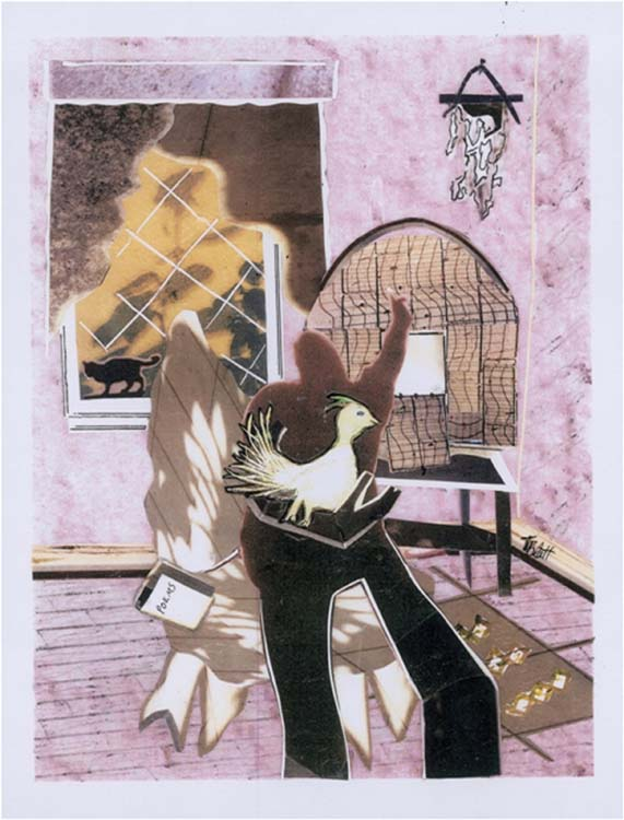 HONORABLE MENTION: Poem, Mixed Media Paper Collage by Teresa Blatt  (May 2015)