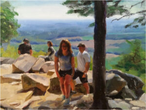 At Sugarloaf Peak, Oil on Canvas by Tom Semmes  (Dec. 2015-Jan. 2016)
