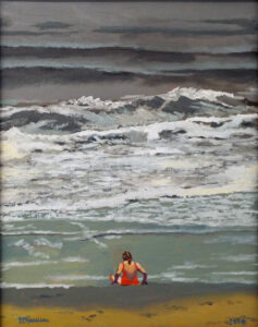 No Swimming Today, Oil on Canvas by William A Harrison  (March 2015)