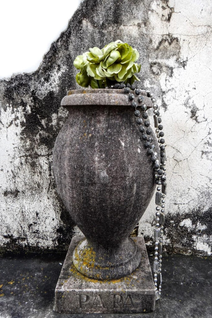 HONORABLE MENTION: Prayer Urn, Photographic Print on Metal by Dorothy Stout, 36in x 24in, $350 (March 2021)