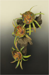 Bromeliad, Mixed Media by Lynette Reed, 24in x 12in x 8in, $450 (May 2021)