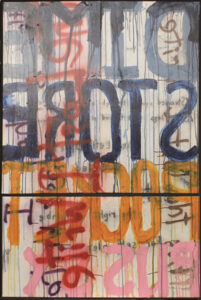 DSPP, Acrylic, Enamel and Gesso by Robert Luther, 73in x 49in, $600 (May 2021)