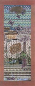 Diagrams and Equations, Mixed Media Collage by Teresa Blatt, 12in x 5in, $210 (May 2021)