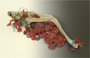 SECOND PLACE: Eccentric Concentric, Mixed Media by Lynette Reed, 13in x 30in x 6in, $425 (May 2021)