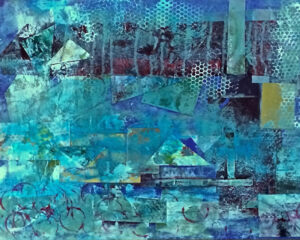 Shaped, Mixed Media-Collage by Elizabeth Shumate, 16in x 20in, $425 (May 2021)