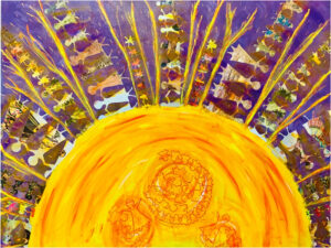 Sublimation, Mixed Media by Alison Sullivan, 36in x 48in, $385 (May 2021)