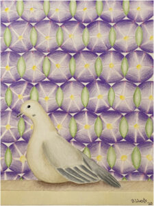 Unwelcome-Welcome- Morning Glory, Mourning Dove, Colored Pencil on Paper by Beka Wueste, 24in x 18in, $725 (May 2021)