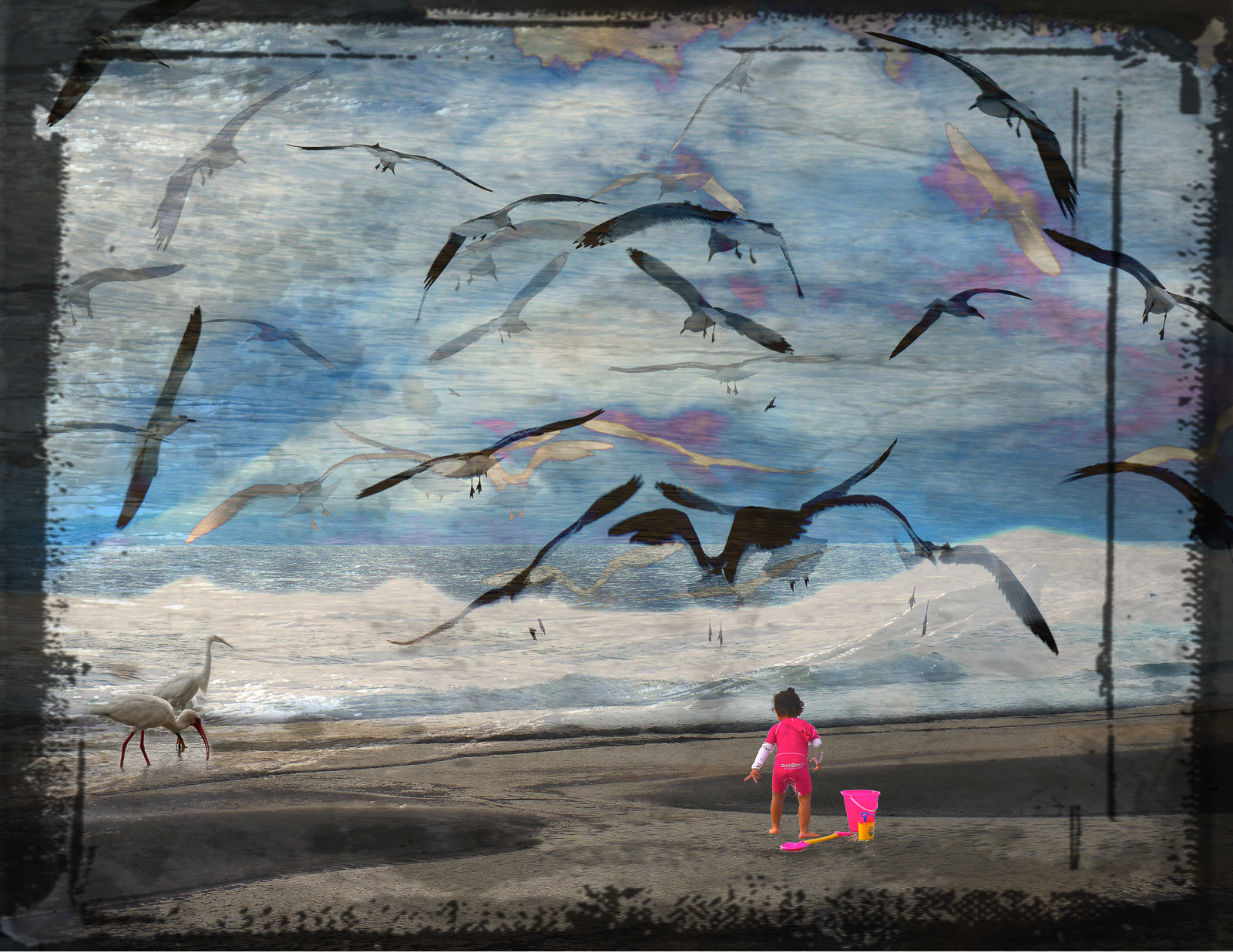 Child at Beach, work by R. Taylor Cullar (MG: June 2021)