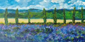 Lavender of Dawn, Acrylic by Van Anderson, 10in x20in, NFS (June 2021)