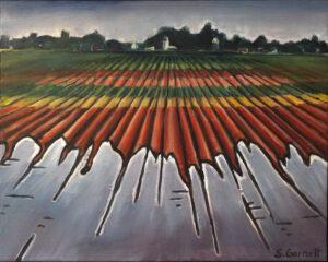 May Corn Flood, Acrylic by Susan Garnett, 16in x 20in, $350 (June 2021)