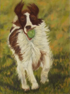 Put Me In Coach, Pastel by Roxana Genovese, 12in x9in, $350 (June 2021)