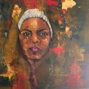 Selfie, Oil on Canvas by Deborah Ware, 20inx 20in, $250 (June 2021)