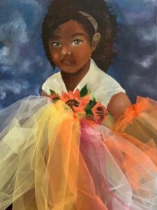 Sunflower 3, Oil on Canvas by Deborah Ware, 24in x 18in, $400 (June 2021)