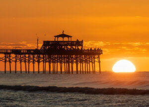 Sunrise at the Pier, Photography by Buddy Lauer, 21in x 29in, $350 (June 2021)