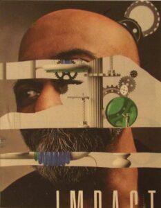 Impact, Collage by Elizabeth Gorn, 7in x 9in, $350 (July 2021)