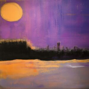 Moonglow, Acrylic by Barbara Taylor Hall, 21in x 21in, $500 (July 2021)