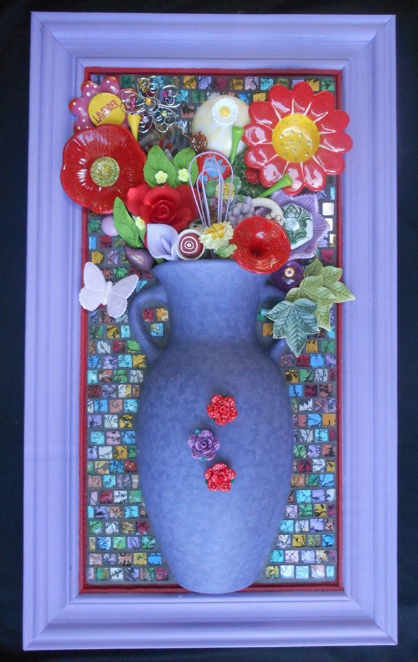 Red Bloom, work by Cathy Ambrose Smith (MG: July 2021)