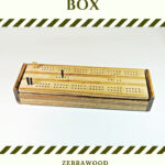 Zebrawood and Maple Dual Deck Cribbage Board