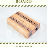 Compact Travel Cribbage Board - Black Cherry & Black Walnut