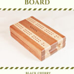 Compact Travel Cribbage Board - Black Cherry & Maple