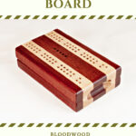 Bloodwood and Maple Compact Travel Cribbage Board