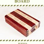 Compact Travel Cribbage Board - Bubinga & Maple