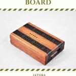 Compact Travel Cribbage Board - Brazilian Cherry & Wenge