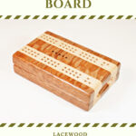 Compact Travel Cribbage Board - Lacewood & Maple