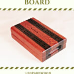 Compact Travel Cribbage Board - Leopardwood & Maple