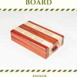 Compact Travel Cribbage Board - Padauk & Maple