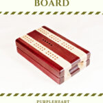 Compact Travel Cribbage Board - Purpleheart & Maple