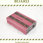Compact Travel Cribbage Board - Purpleheart & Wenge