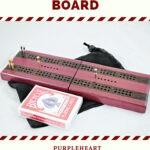 Compact Travel Cribbage Board - Purpleheart & Wenge