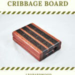 Compact Travel Cribbage Board 3 Player - Leopardwood & Wenge