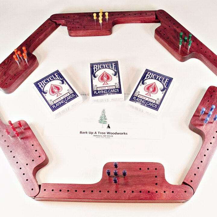 Pegs & Jokers Game Set - Purpleheart