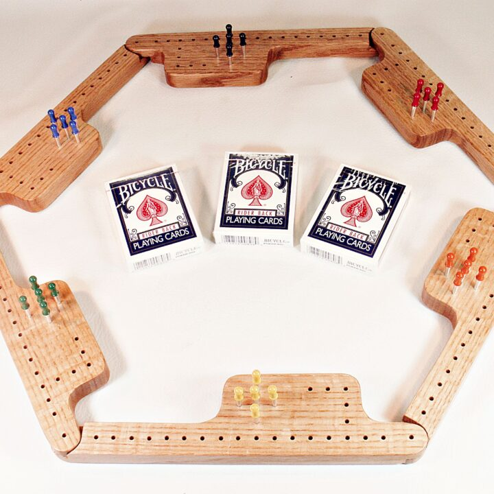 Pegs & Jokers Game Set - Quarter-Sawn Red Oak