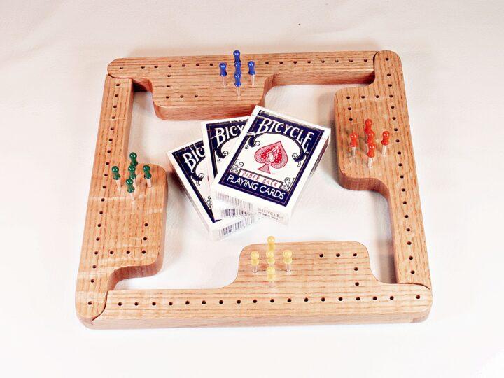 Pegs & Jokers Game Set - QS Red Oak - 4Play