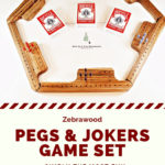 """Pegs & Jokers, """"The best crap on your neighbor"""" game ever!"""
