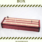 Bloodwood & Maple Dual Deck Cribbage Board