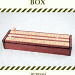 Bubinga & Maple Dual Deck Cribbage Board