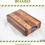 Compact Travel Cribbage Board - Black Walnut & Black Cherry