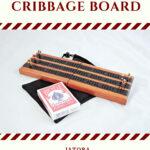 Compact Travel Cribbage Board 3 Player - Jatoba & Wenge
