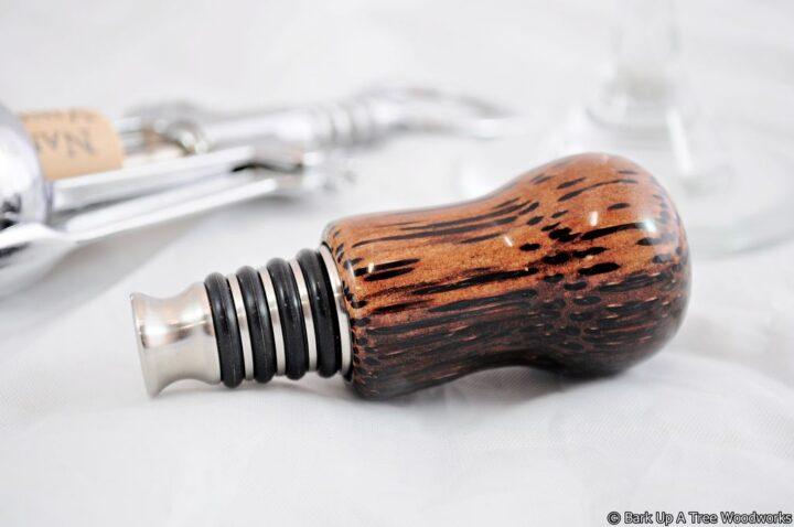 Bottle Stopper - Black Palm