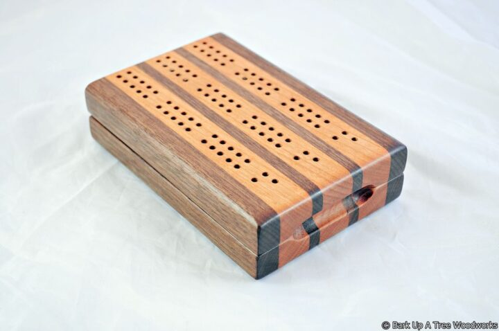 CTC-3 Compact Travel Cribbage 3 Track - Black Walnut & Black Cherry