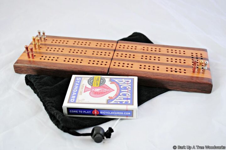 CTC-3 Compact Travel Cribbage 3 Track - Black Walnut & Black Cherry - Play