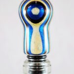 Bottle Stopper - SpectraPly Rising Tide with Stainless Steel