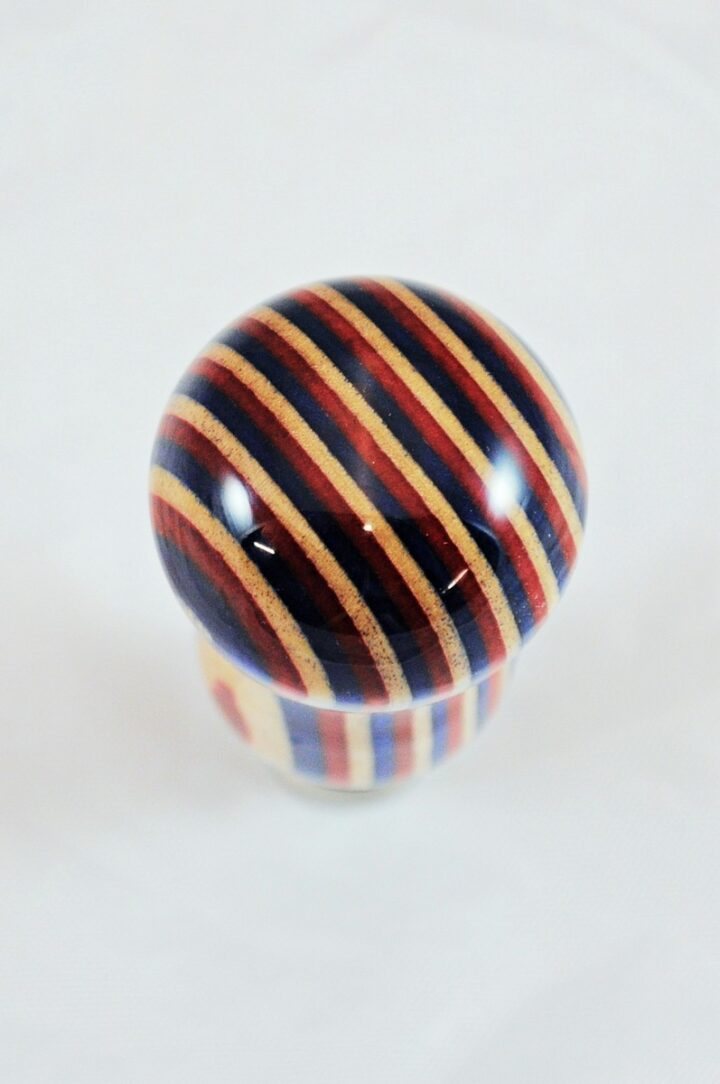 Bottle Stopper - SpectraPly Americana with Stainless Steel Stopper Top