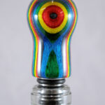 Bottle Stopper - SpectraPly Confetti with Stainless Steel