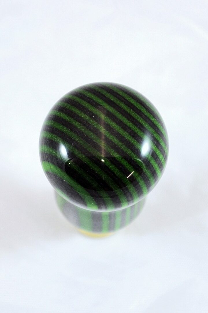 Bottle Stopper - SpectraPly Green Hornet with Brass Top