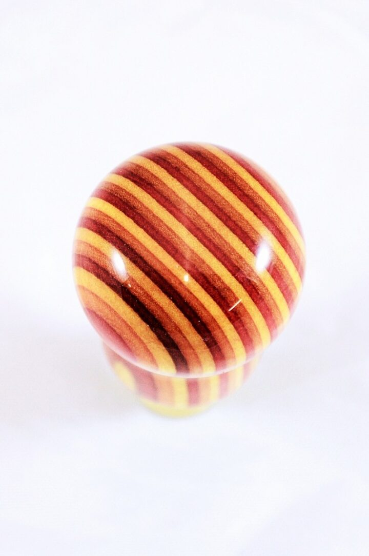 Bottle Stopper - SpectraPly Tequila Sunrise with Brass Top